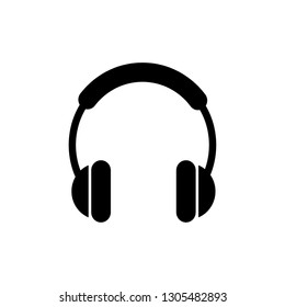 Headphone headset icon in flat style. Headphones vector illustration on white isolated background. Audio gadget business concept. perfect headphone . website and mobil apps