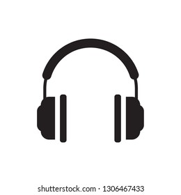 Headphone headset icon in flat style. Headphones vector illustration on white isolated background. Audio gadget business concept. perfect headphone . website and mobil apps.