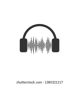 Headphone icon graphic design template vector illustration