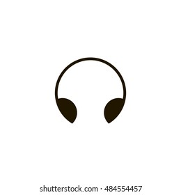 Headphone icon vector, clip art. Also useful as logo, web UI element, symbol, graphic image, silhouette and illustration. Compatible with ai, cdr, jpg, png, pdf and eps formats.