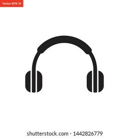 headphone icon vector design template