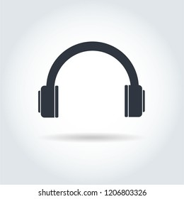 headphone icon, headphone icon vector, in trendy flat style isolated on white background.