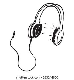 Headphones doodle
