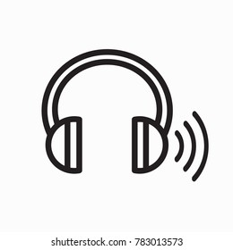 Headphones for ear screening test - 1 side has ringing