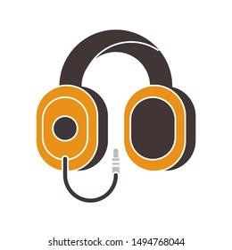 headphones icon. flat illustration of headphones vector icon. headphones sign symbol