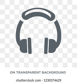 Headphones icon. Trendy flat vector Headphones icon on transparent background from Electronic devices collection.