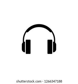 Headphones icon vector illustration. Headphones symbol.