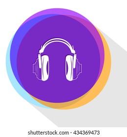 headphones. Internet template. Vector icon.
