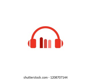 Headphones sound logo