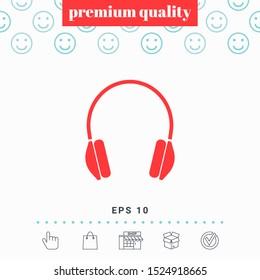 Headphones symbol icon. Graphic elements for your design