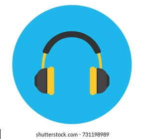 Headphones Vector Icon. Vector illustration.