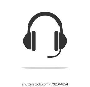 Headphones Vector Icon. Vector illustration.
