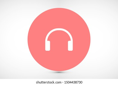 headphones vector icon. headphones and listen to the music icon. headphones for watching video icon. headphones for robots.10 eps
