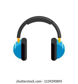 Headphones vector stock image.
