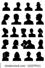 Heads silhouettes