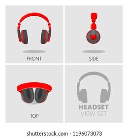 headset /headphone view set