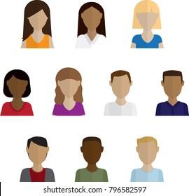 Headshots vector illustration