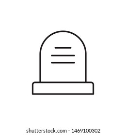 Headstone icon vector on white background