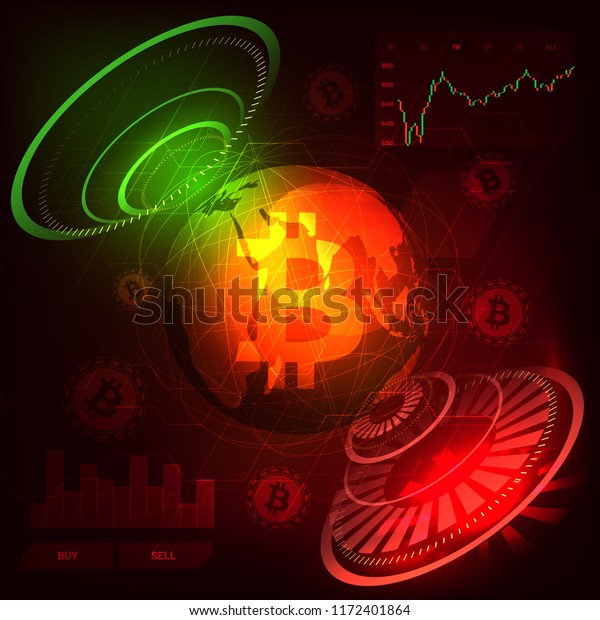 Headup Display Bitcoin Trading Platform Cryptocurrency Stock