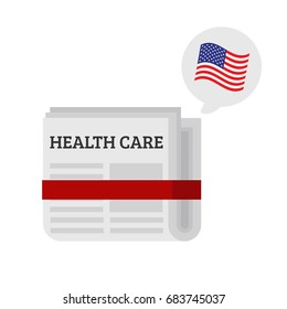 Healh care bill vector illustration