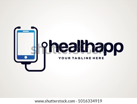 health app logo template design vector stock vector royalty free