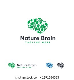 Health Brain logo designs concept vector, Nature Mind logo template, Education logo symbol