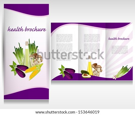 health brochure template stock vector royalty free 153646019