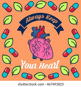 Health Campaign Poster Healthy Living Campaign Stock Vector Royalty