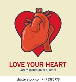 Health campaign poster, heart health campaign. Heart health campaign
