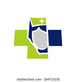 health care of alberta canada. logo template of medical person. doctor and nurse. icon template.