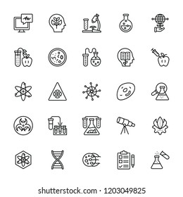 Health Care and Bioinformatics Line Icons
