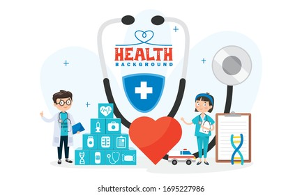 Health Care Concept With Characters