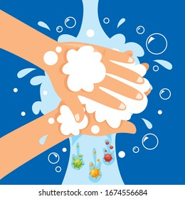 Health Care Concept With Washing Hands
