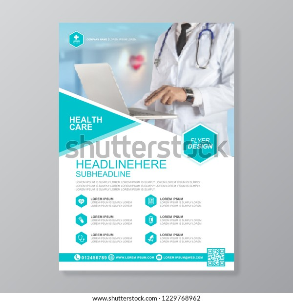 Health Care Cover A4 Template Design Stock Vector (Royalty Free