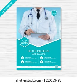 health care cover template design for a report and medical brochure design, flyer, leaflets decoration for printing and presentation vector illustration
