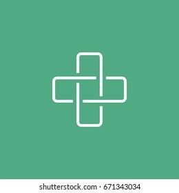 Health Care Cross Icon Logo Template Illustration Design. Vector EPS 10.