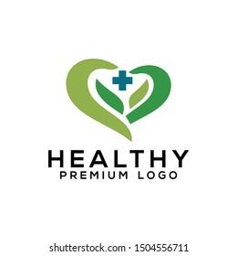 Health Care Healthy Logo Design Vector Template  For Hospital Pharmacy Company