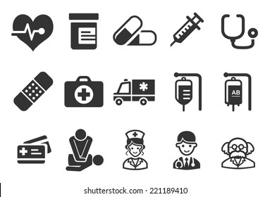 Health Care Icons - Medical Illustration