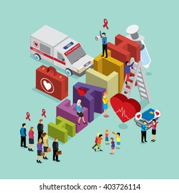 health care with isometric concept