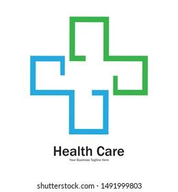 health care medical logo design template