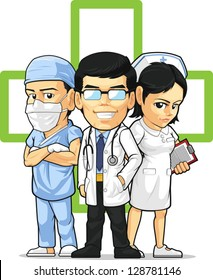 Health Care or Medical Staff - Doctor, Nurse, & Surgeon
