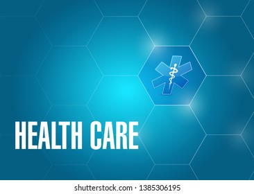 health care medical symbol isolated over a blue background