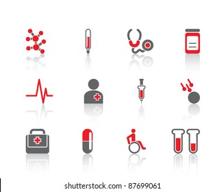 Health care medicine hospital nurse doctor set of elements logo icons