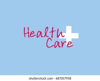 health care message sign illustration design