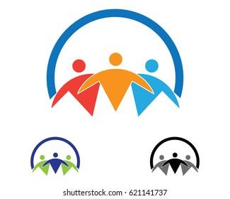 Health care people logos