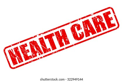 HEALTH CARE red stamp text on white