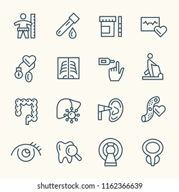 Health check up line icons