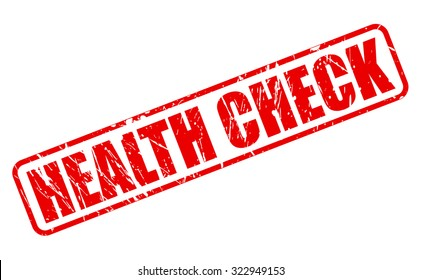 HEALTH CHECK red stamp text on white