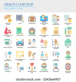 Health Checkup , Thin Line and Pixel Perfect Icons