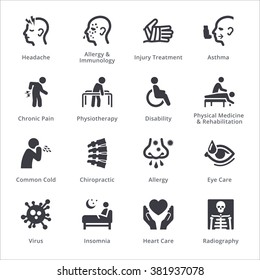 Health Conditions & Diseases Icons - Sympa Series | Black